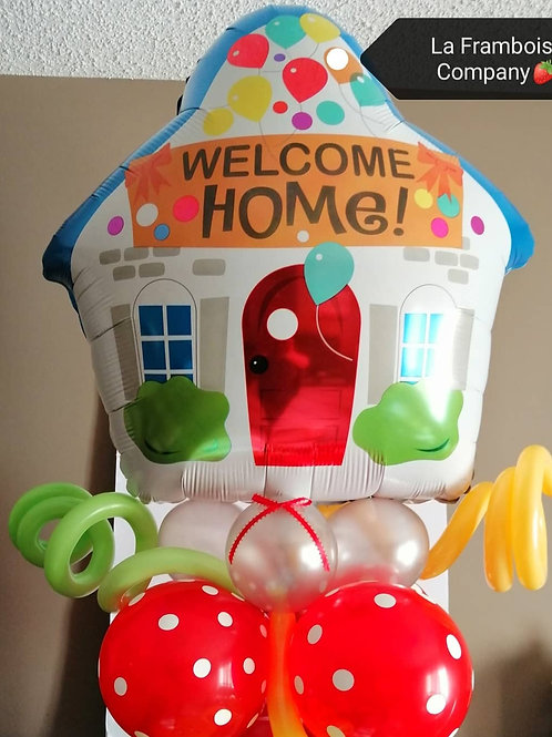 New Home Balloon gift topper