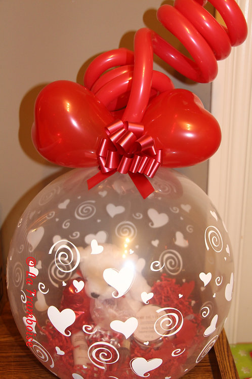 Heart gift in a balloon