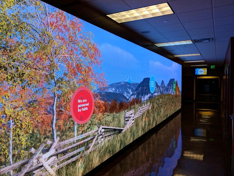 40' LED Wall Display Active