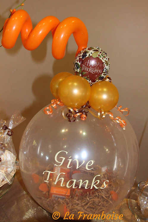 Give Thanks gift in a balloon
