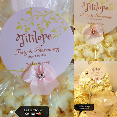 Rose gold custom chocolate popcorn