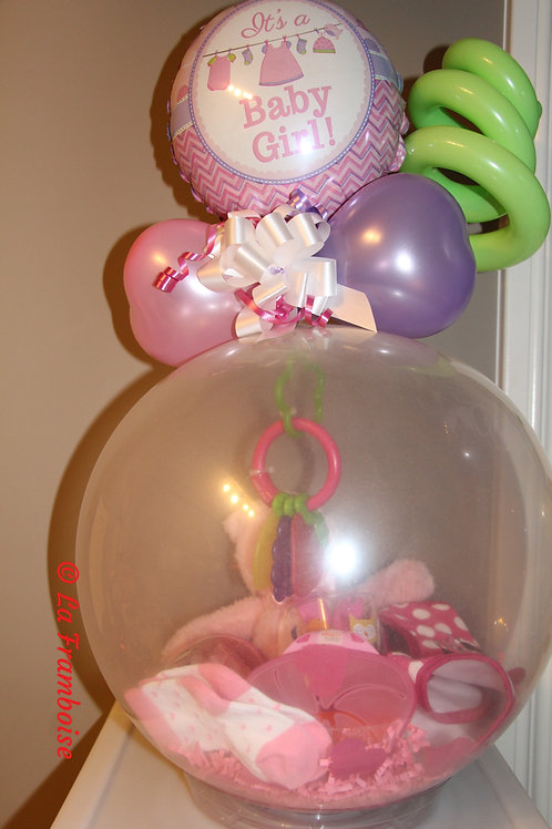 It's a girl gift in a balloon
