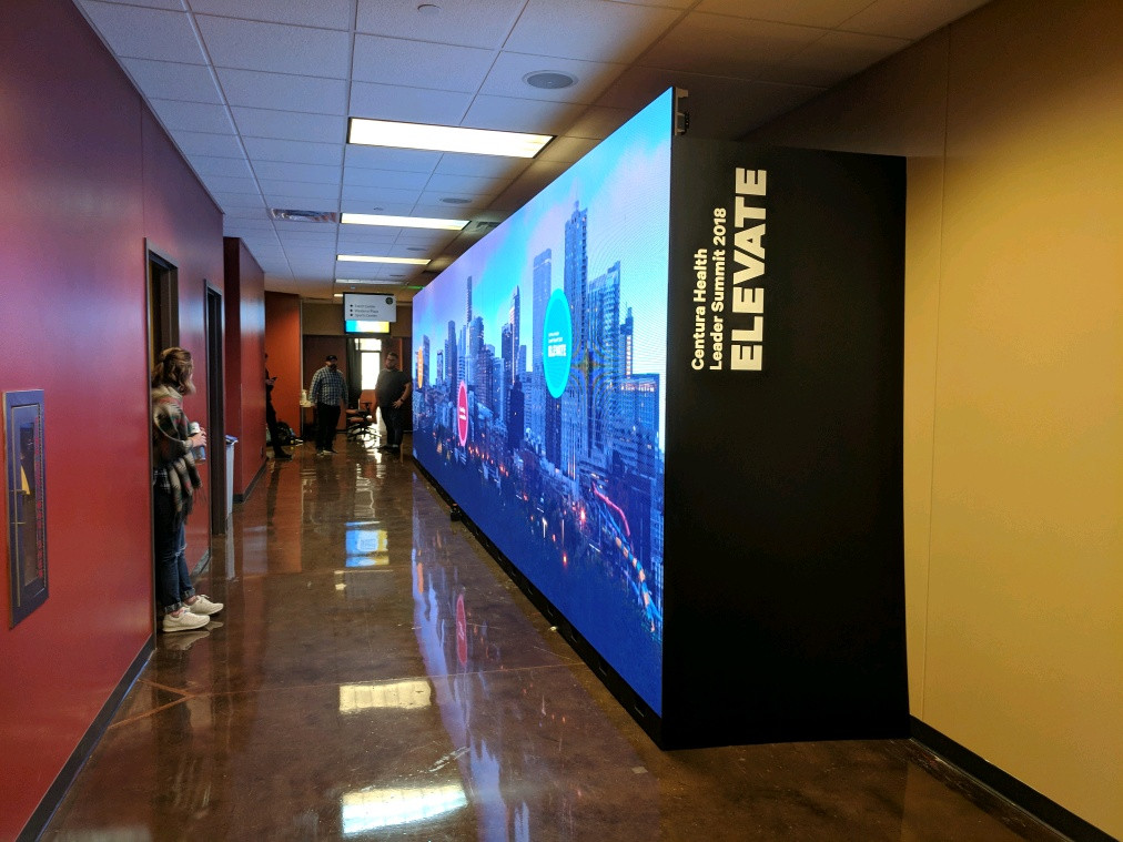 40' LED Wall Active