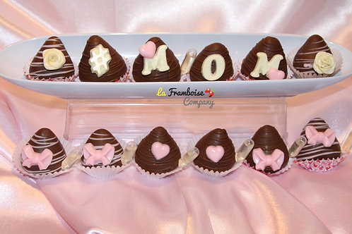 Mother's Day dipped berries - 12pcs