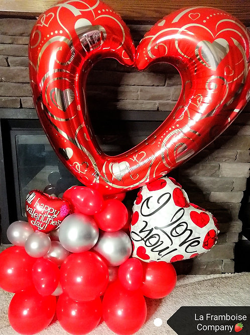 Grand heart balloon gift