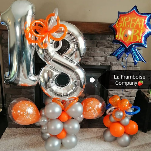 Number birthday balloon decor