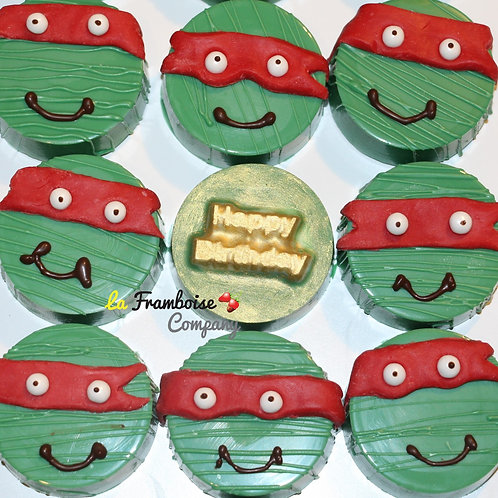 Custom Ninja Turtle chocolate cookie