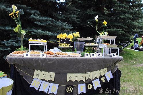 Summer dessert tablescape