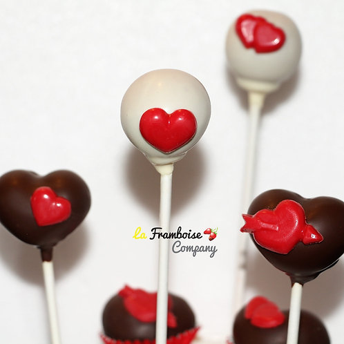 Heart chocolate pops/balls
