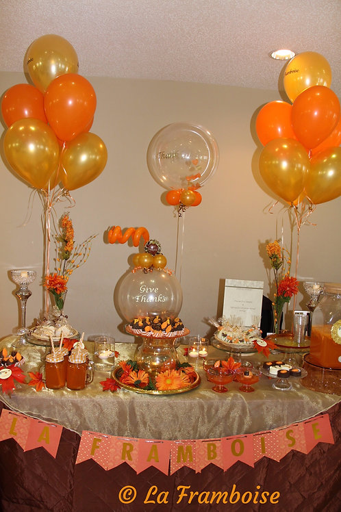 Fall dessert tablescape