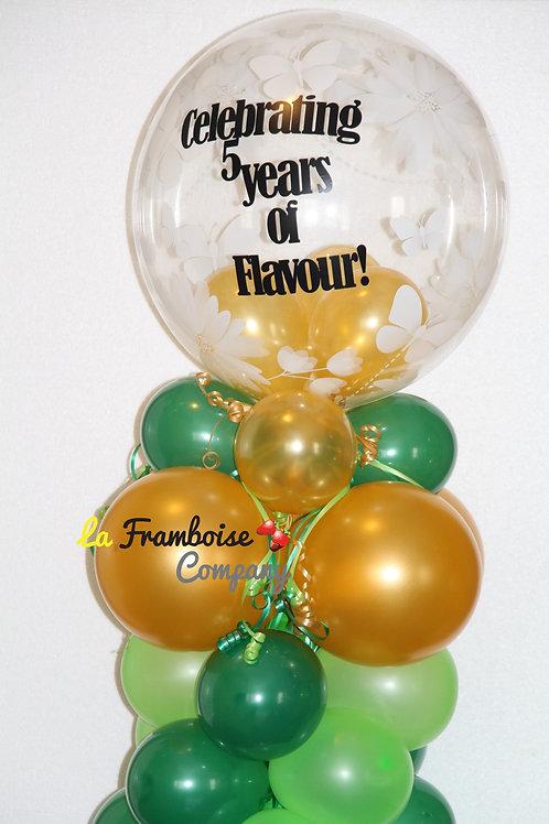 Classy green & gold balloons