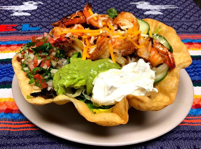 Ensalada Taco Shrimp