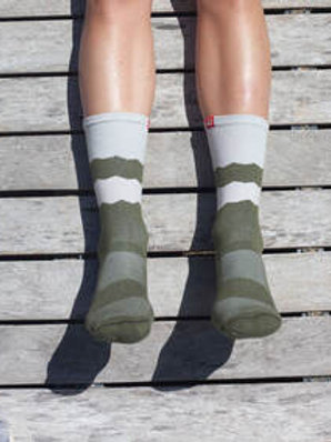 Socks; Mountains; Light Grey Olive