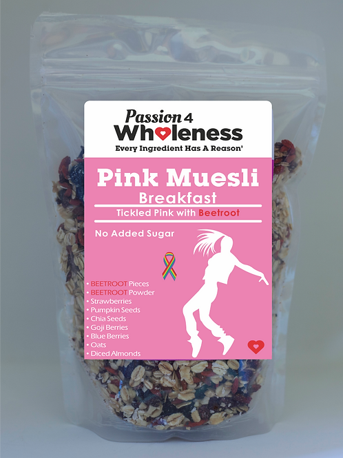Passion4Wholeness Pink Muesli with Beetroot