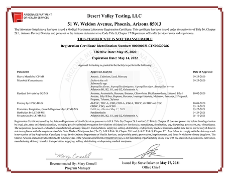 DVT Lab Approval for Testing 5.21-1