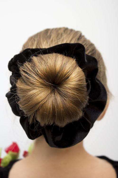 Attache à cheveux en velours extensible