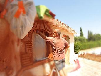 Chantier maison en pierre