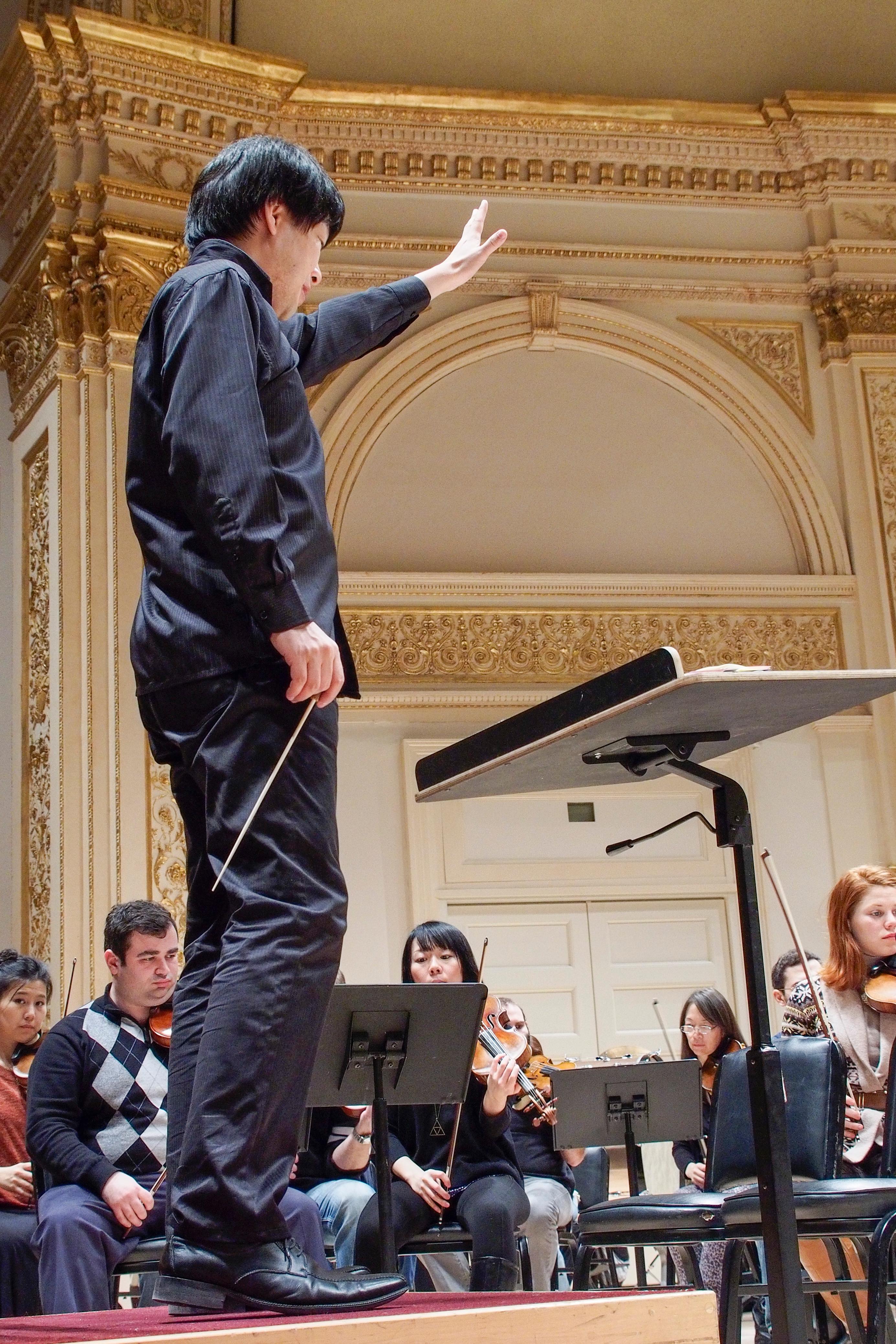 Maestro Hirai at rehearsal
