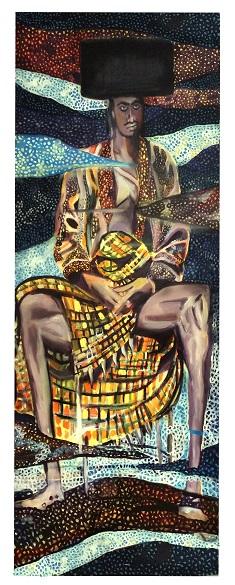 שחף בן שעיה, האחר, אקוורל על בד, 2017 Shachaf Ben Shaya, The other, Watercolor on canvas