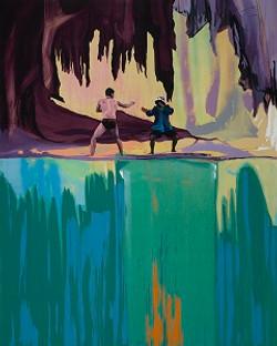 מתן בן-טולילה, עימות מס. 1, שמן על בד, 2016 Matan Ben Tolila, Confrontation no. 1, Oil on canvas