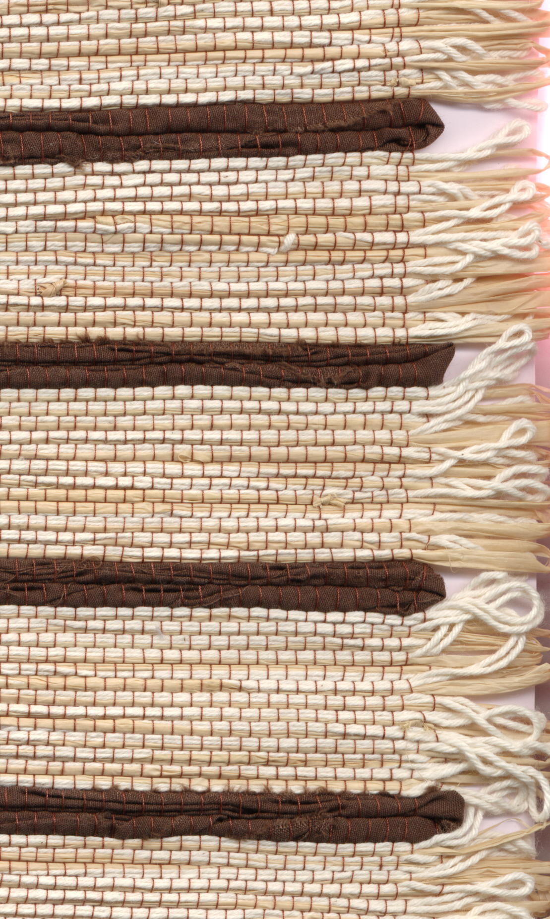 Frosted Bark - Raffia fabric