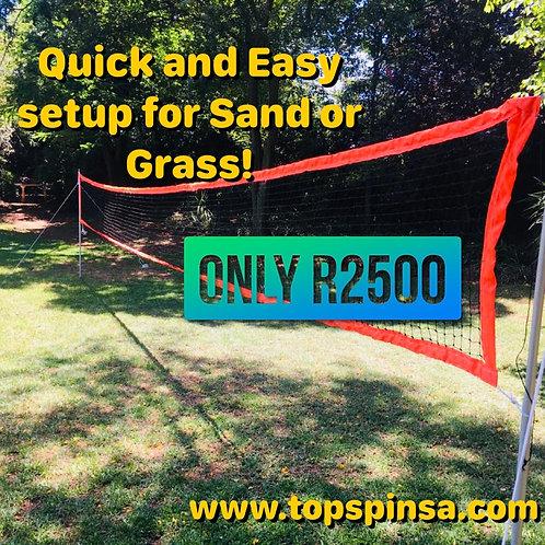 9m x 700mm Beach Tennis Net + Poles, ropes and anchors!