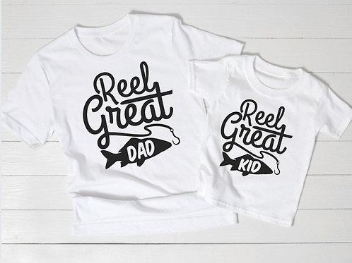 Ollie&Millie's Own - Reel great Dad/Kid tee (sold separately)