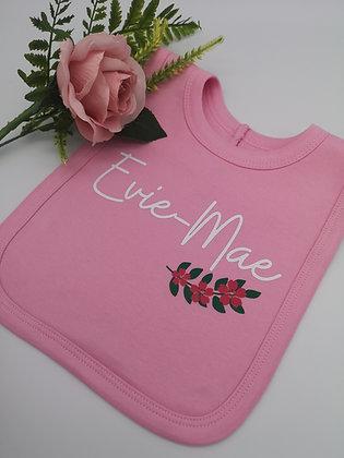 Ollie&Millie's Own - Personalised Floral Bib