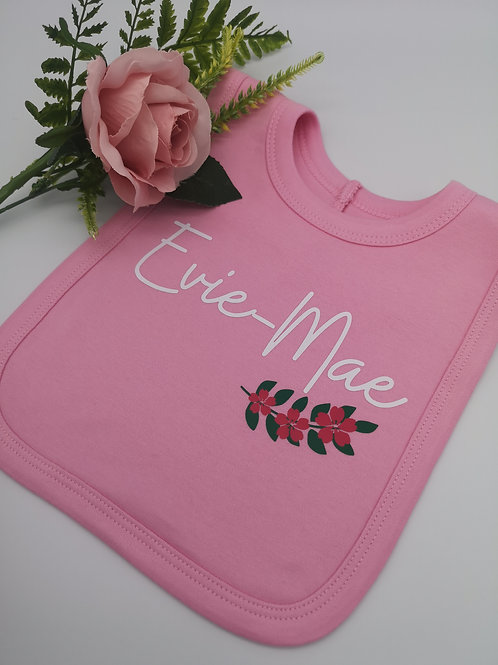 Ollie&Millie's Own - Personalised Floral Bib
