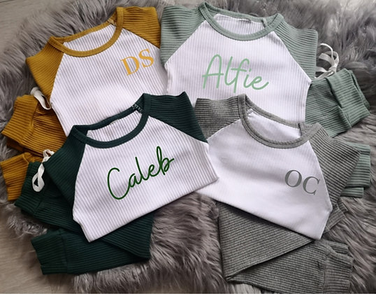 Ollie&Millie's Own - Personalised ribbed lounge wear