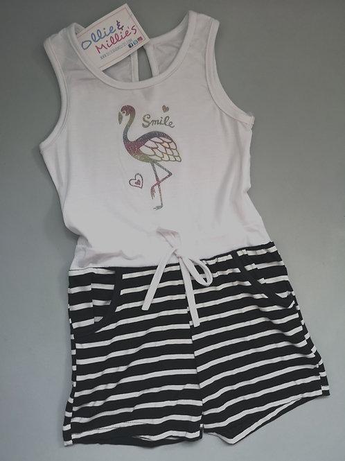 Flamingo Striped Playsuit