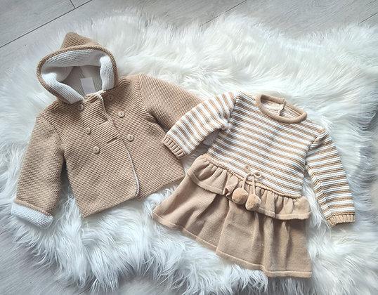 Tan knitted coat & dress