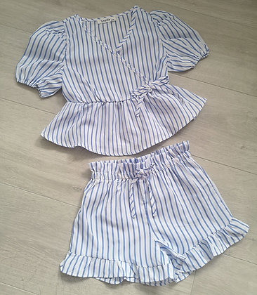Blue Striped 2 Piece