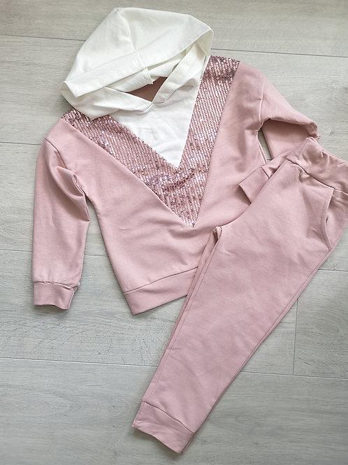 Dusky Pink Sequin Set