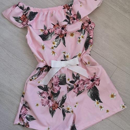 Pink Floral Summer Playsuit