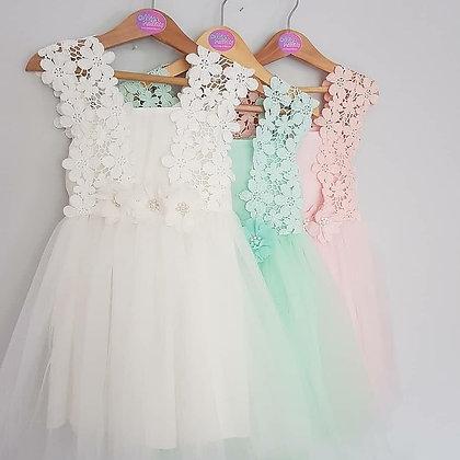 Flower Lace Summer Dress *3 Colours*
