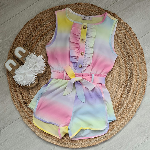 Pink tie dye playsuit