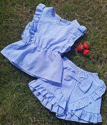 Blue Gingham 2 Piece