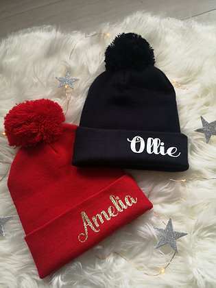 Ollie&Millie's Own - Personalised Hat Winter Edition