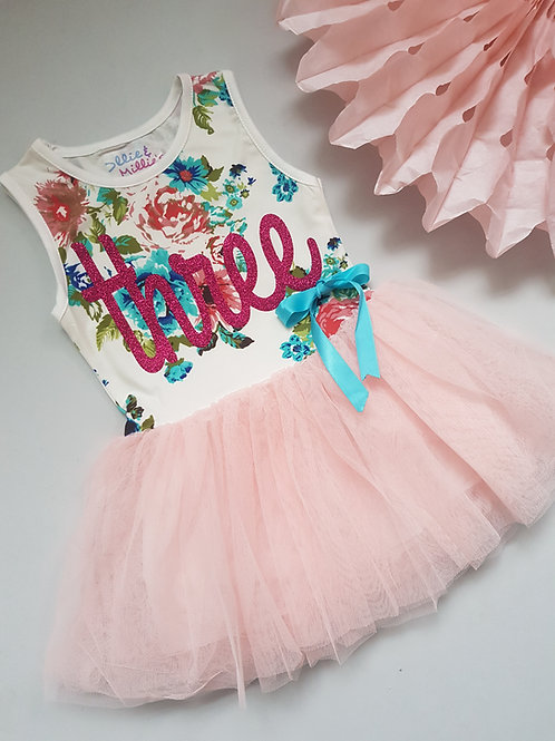 Birthday Floral Tutu Dress