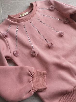 Pink pompom jumper