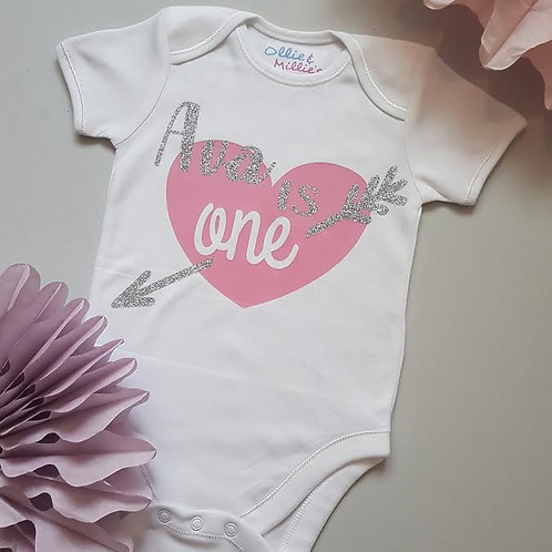 Ollie&Millie's Own -Personalised Birthday Heart Top