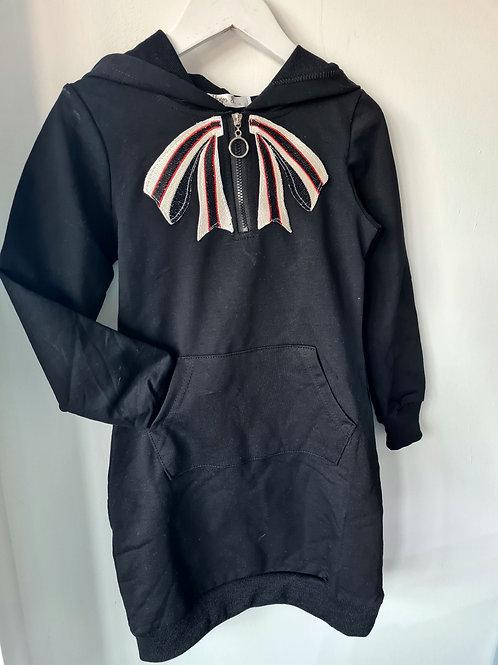 Black bow hoody
