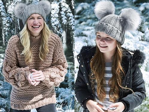 Me&Mini - Faux Fur Double Pom Pom Hats