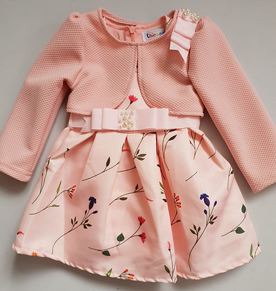 Baby Girls Flower Dress & Jacket