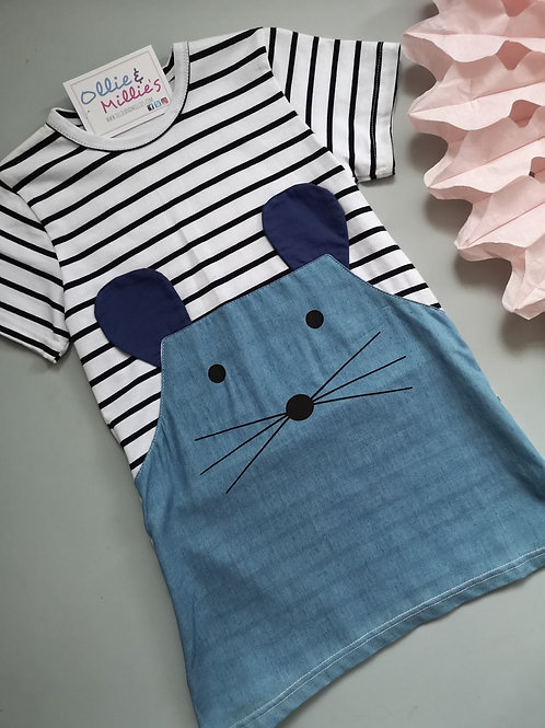 Striped Demin Mouse Dress