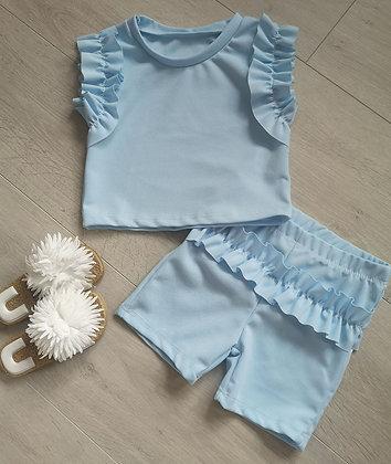 Blue ruffle summer set