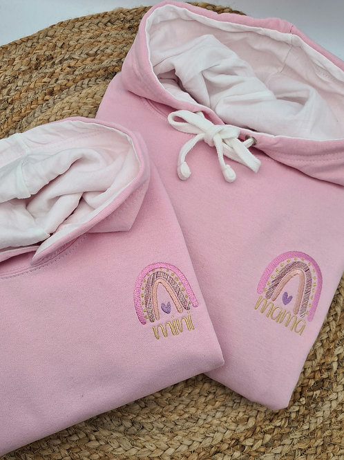 Copy of  Ollie&Millie's Own -  Mini Embroidered Rainbow Hoody