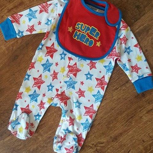 Baby Boys Superhero Sleepsuit