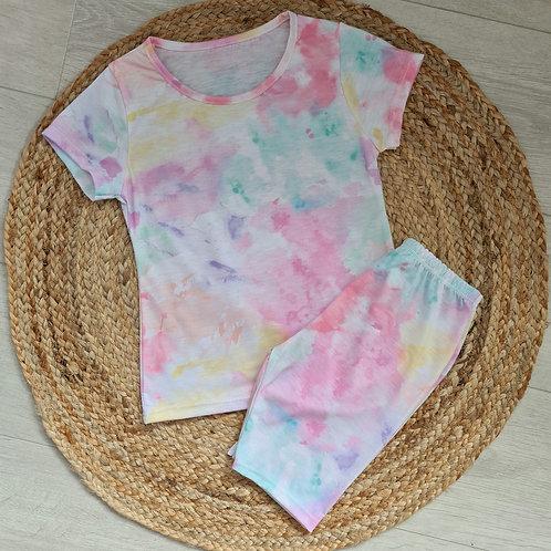 Pastel tie dye summer set
